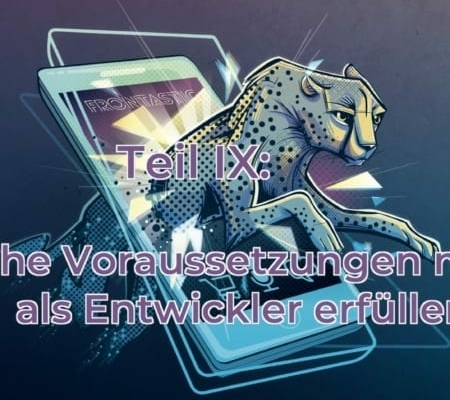Interview cover visual showing cheetah jumping out of a mobile screen