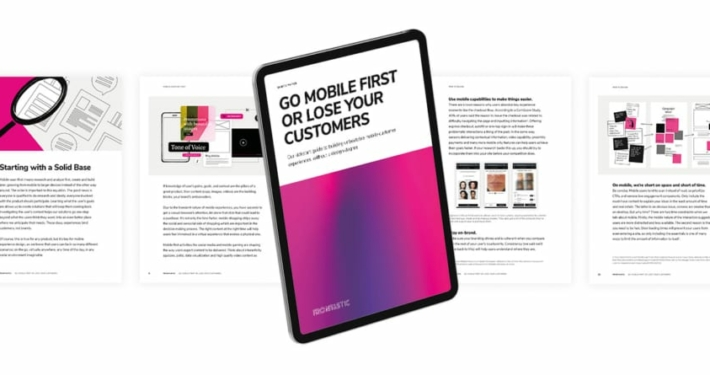 Preview of Mobile First Whitepaper on a tablet