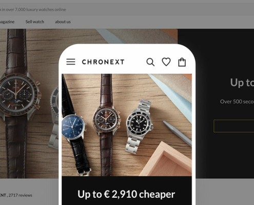 Chronext store preview on mobile and desktop