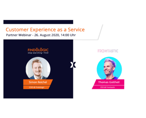 Invite to Webinar Customer Experience as a Service with Simon Reichel and Thomas Gottheil